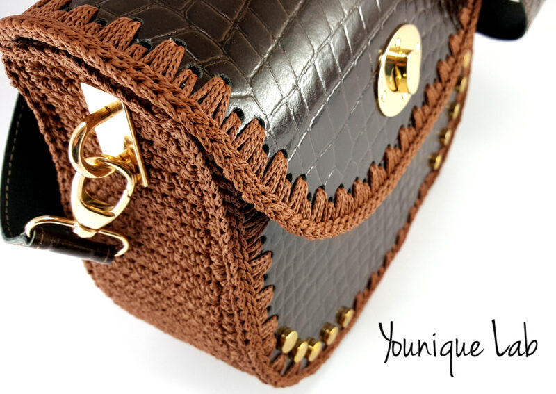 Joy in brown croc leather by Younique Lab 2
