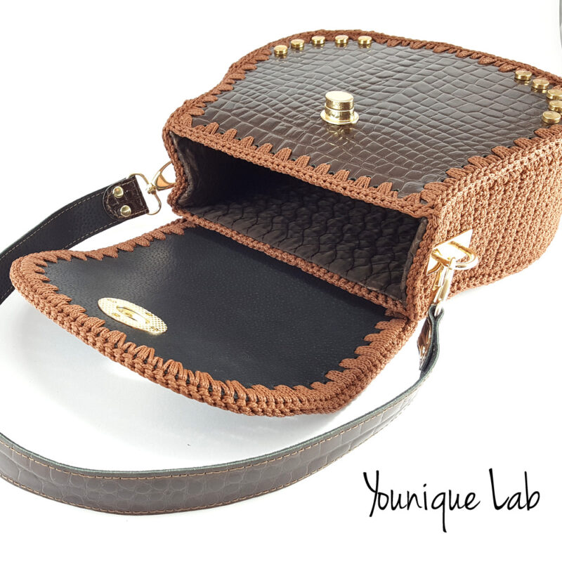 Joy in brown croc leather by Younique Lab 3